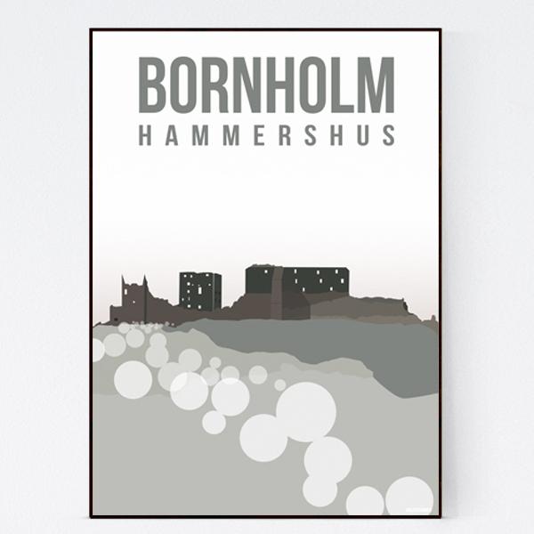 Hammershus_malenesommer-bornholm-plakat