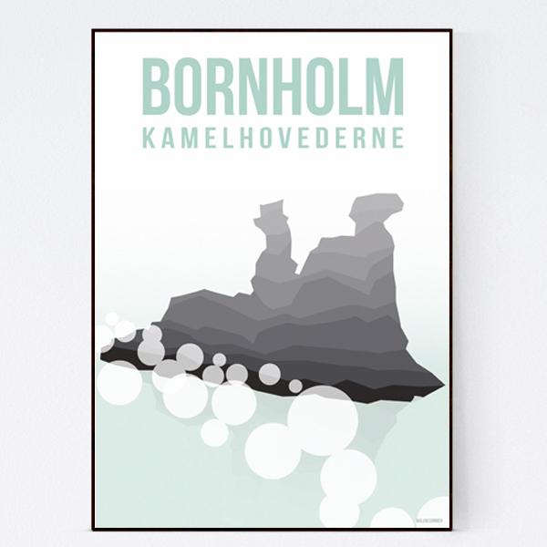 kamelhovederne_malenesommer-bornholm-plakat