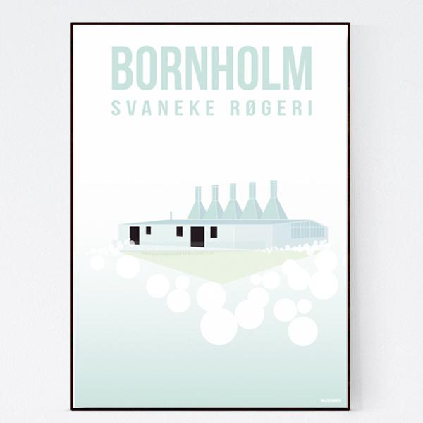 svanekerogeri_malenesommer-bornholm-plakat